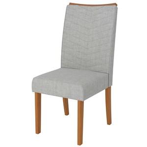 Sala de Jantar Mesa Itália 120cm e 4 Cadeiras Serena Carvalho/Off/Claro - Dj Móveis