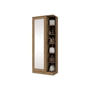 Sapateira 1 Porta com Espelho Duetto Rústico - Henn