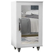 Sapateira com Espelho 1 Porta Madri Branco - Lumil Móveis