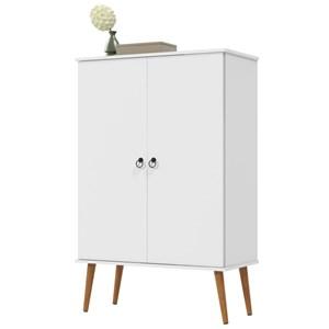 Sapateira Multiuso Spazio 02 Portas Branco - Patrimar Móveis