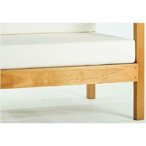 Sofá 01 Lugar Componível com Almofada Lazy Jatobá - Mão & Formão