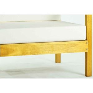 Sofá 01 Lugar Componível com Almofada Lazy Stain Amarelo - Mão & Formão