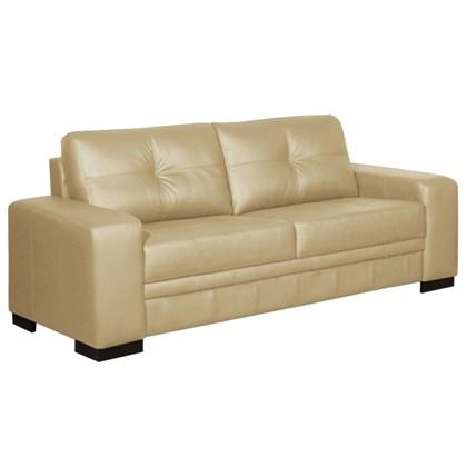 sofá 03 lugares 2 10 m couro milano bege arte sala mpozenato