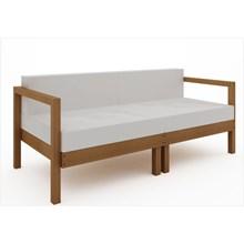 Sofá 2 Lugares Componível com Almofadas Lazy Jatobá - Mão & Formão