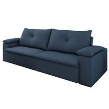Sofá 3 Lugares 230cm Tico Reclinável e Retrátil Suede Azul - D'Monegatto