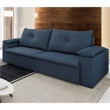 Sofá 3 Lugares 250cm Tico Reclinável e Retrátil Suede Azul - D'Monegatto