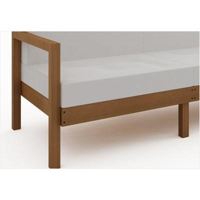 Sofá 3 Lugares Componível com Almofadas Lazy Jatobá - Mão & Formão