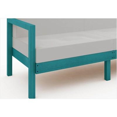 Sofá 3 Lugares Componível com Almofadas Lazy Stain Azul - Mão & Formão