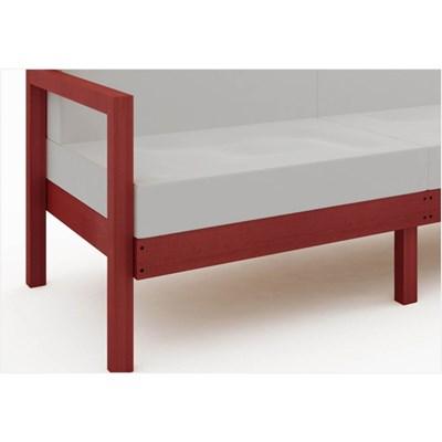 Sofá 3 Lugares Componível com Almofadas Lazy Stain Vermelho - Mão & Formão