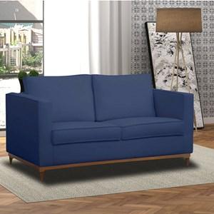 Sofá Aspen 145cm 2 Assentos 2 Lugares Suede Azul - D'Monegatto