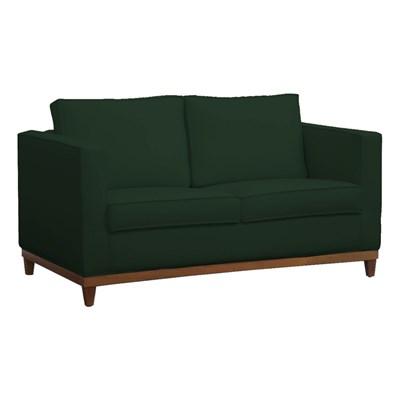 Sofá Aspen 145cm 2 Assentos 2 Lugares Suede Verde Musgo - D'Monegatto