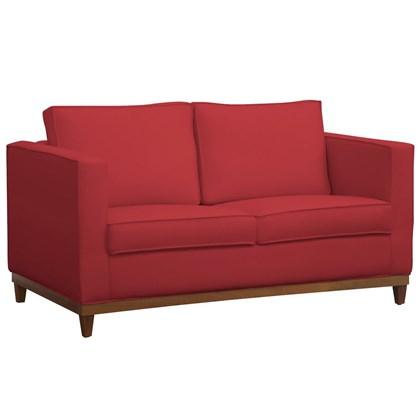 Sofá Aspen 145cm 2 Assentos 2 Lugares Suede Vermelho - D'Monegatto