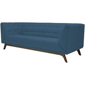 Sofá Dante 3 Lugares 230cm B170 Azul - Domi