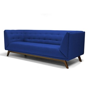 Sofá Dante 4 Lugares 260cm B170 Azul - Domi