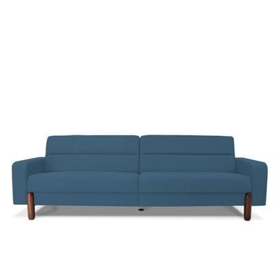 Sofá Marvin 3 Lugares 210cm B170 Azul - Domi