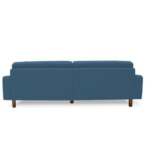 Sofá Marvin 3 Lugares 230cm B170 Azul - Domi