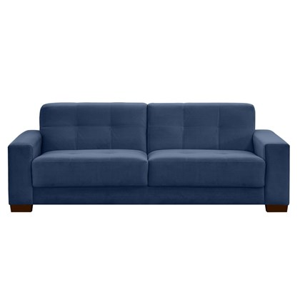 Sofá Ventura 160cm 2 Assentos 2 Lugares Suede Animale Azul - D'Monegatto