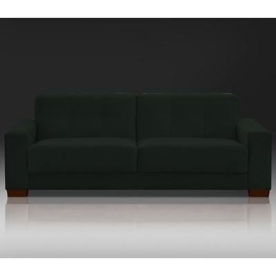 Sofá Ventura 160cm 2 Assentos 2 Lugares Suede Verde Musgo - D'Monegatto