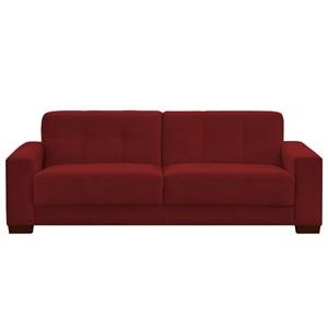 Sofá Ventura 160cm 2 Assentos 2 Lugares Suede Vermelho - D'Monegatto