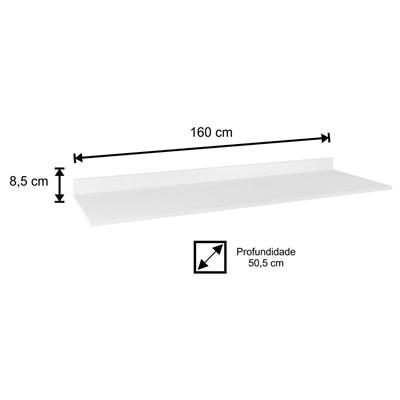 Tampo para Balcão de Cozinha 160cm MDP Branco - Lumil Móveis